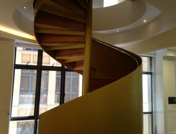 Golden Spiral Staircase.